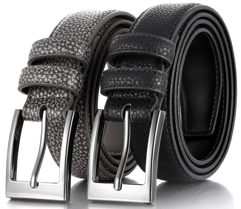 Traje Casual Cintur/ón Piel de Vaqueros Cinturon Cuero de/Vestir Marino Cintur/ón Hombre
