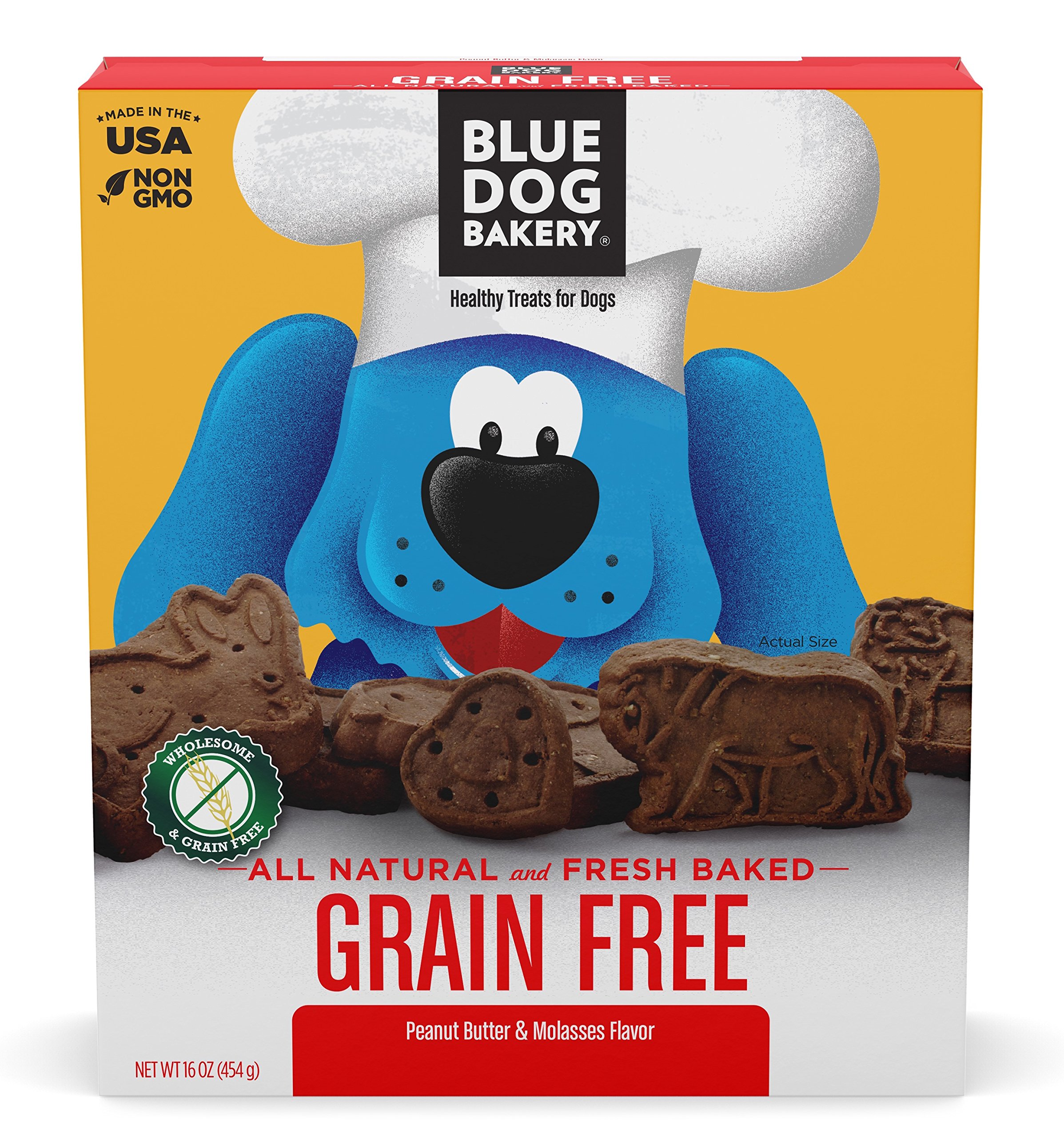 Blue Dog Bakery   Grain-Free Dog Biscuits   All-Natural   Peanut Butter & Molasses   16oz (Pack of 6) by Blue Dog Bakery (Image #2)