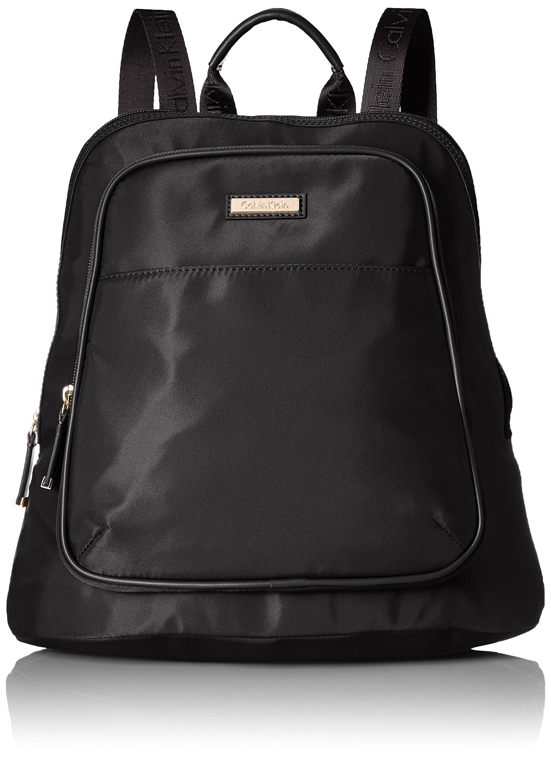 Calvin Klein Nylon Back pack, Black/Gold