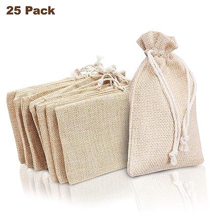 Bolsa de Arpillera (Pack de 25) - Bolsa Pequeña Tela para ...