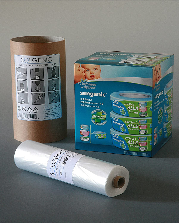 Tube en carton pour faciliter la Recharge Angelcare Recharge /équivalente /à 16 Recharges Sangenic - ECO Recharge de poubelle /à couches Sangenic 100/% Compatible 200 M Liti/ère Litter Locker II
