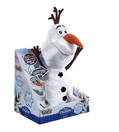 Amazon.com: Disney Frozen Talking 36cm Tickle Time Olaf The Snowman Soft Plush Toy by Vivid: Toys & Games