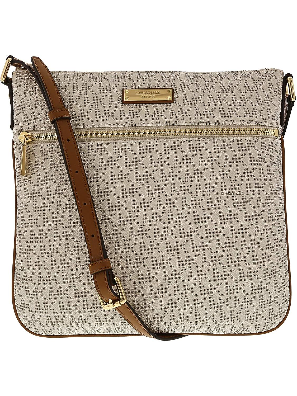 7db5a6565ceb26 MICHAEL Michael Kors Signature Bedford Flat Small Crossbody: Michael Kors:  Amazon.ca: Shoes & Handbags