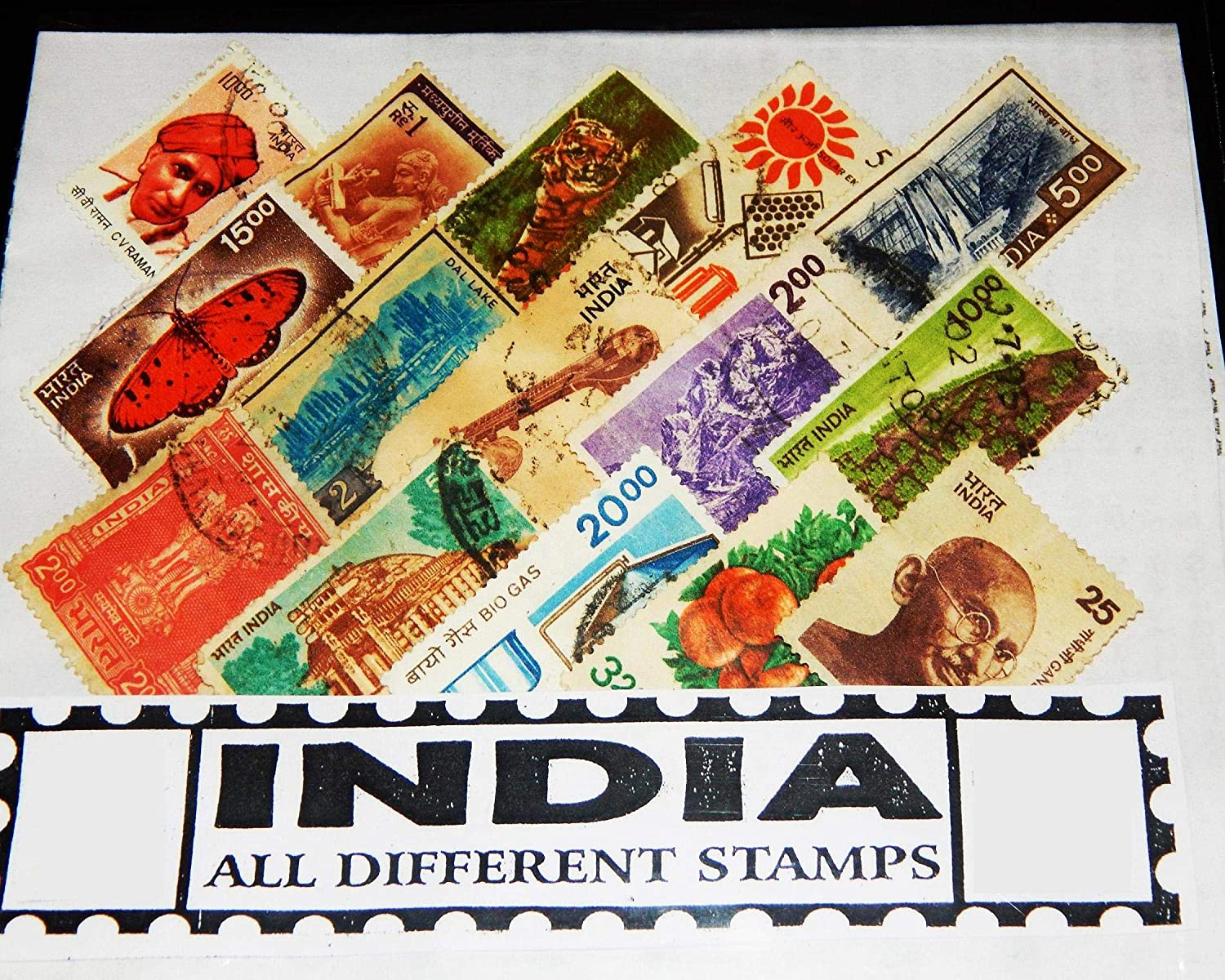GOLD MINT 50 All Different Indian Definitive Stamps Great Old Rare  Collection Lot