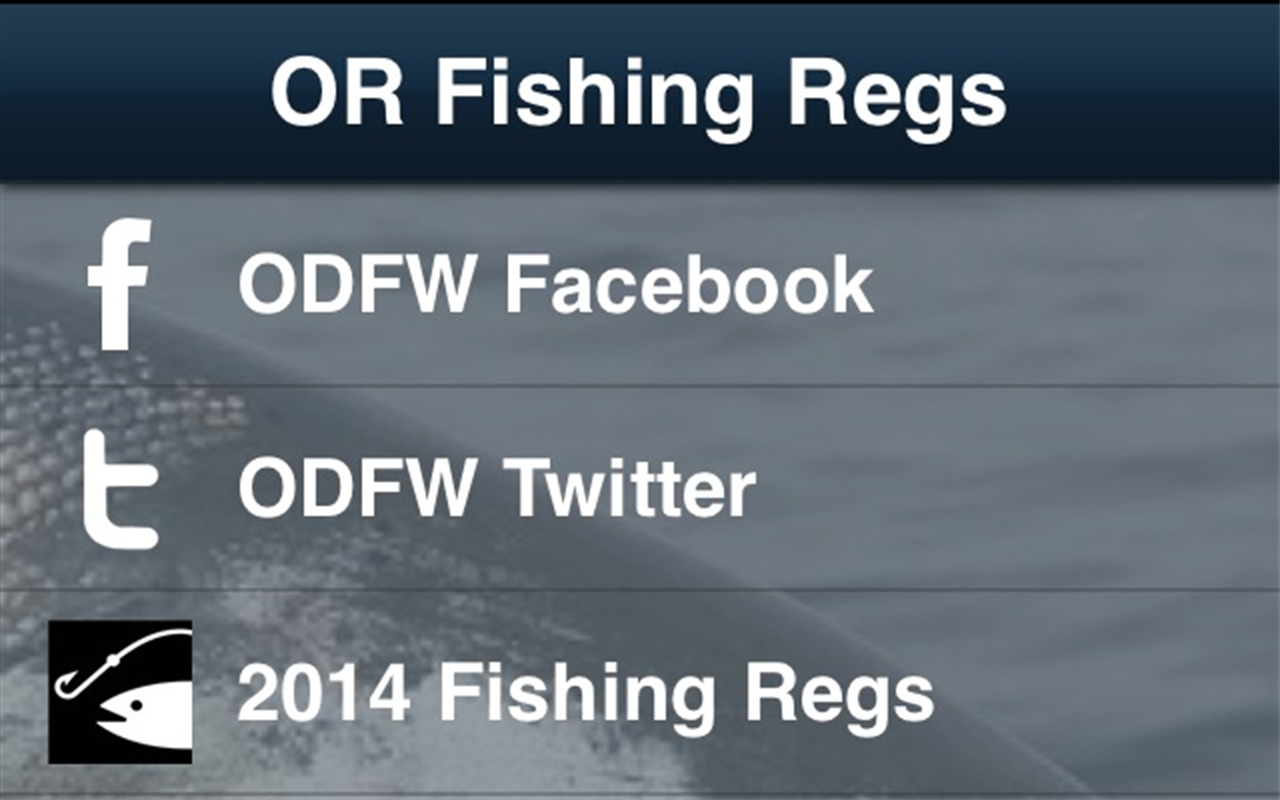 Oregon fishing regulations amazon appstore for Where to buy oregon fishing license