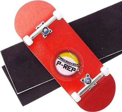 1 Complete 34mm Blue Fingerboard,32mm Trucks,Bearing Wheels,Grip Tape,Stickers
