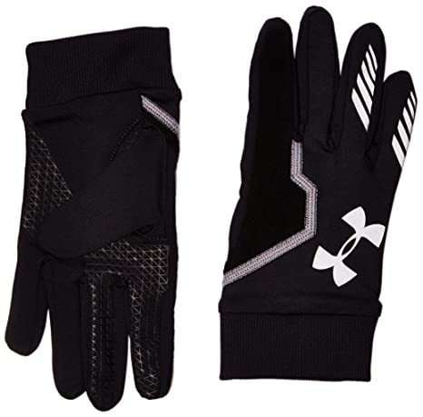 Under Armour Men's Engage ColdGear Gloves, Black (001)/Reflective, Small/