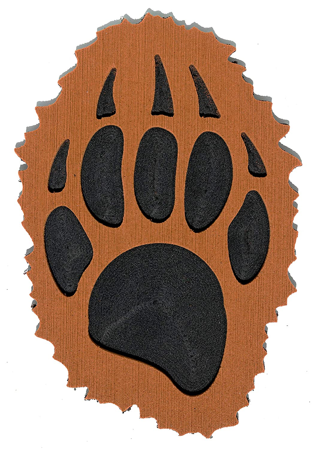 Toejamr Snowboard Stomp Pad Brown Fluffy Grizzly Bear PAW