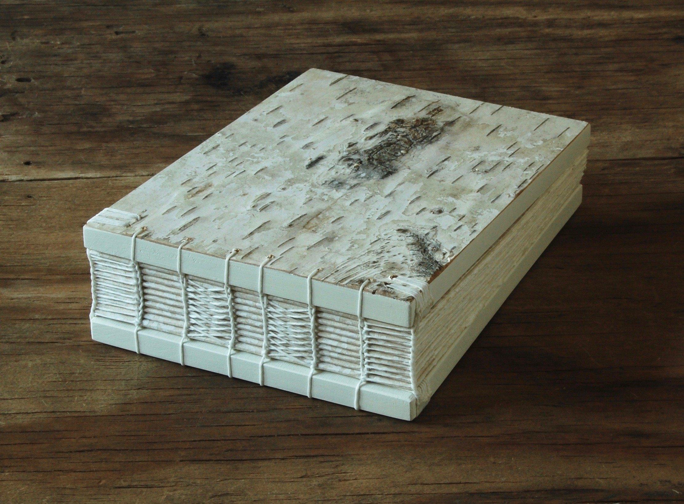 Birch Wood Wedding Guest Book or Handmade Journal