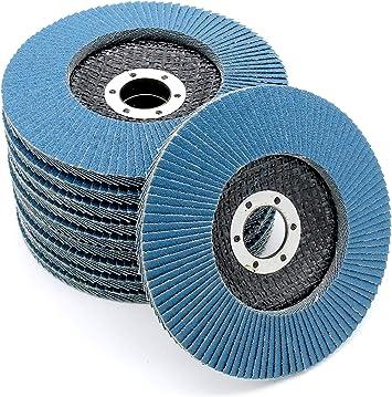 Schleifscheiben Blau 10 Stück Schleifen Polieren für Winkelschleifer Neu