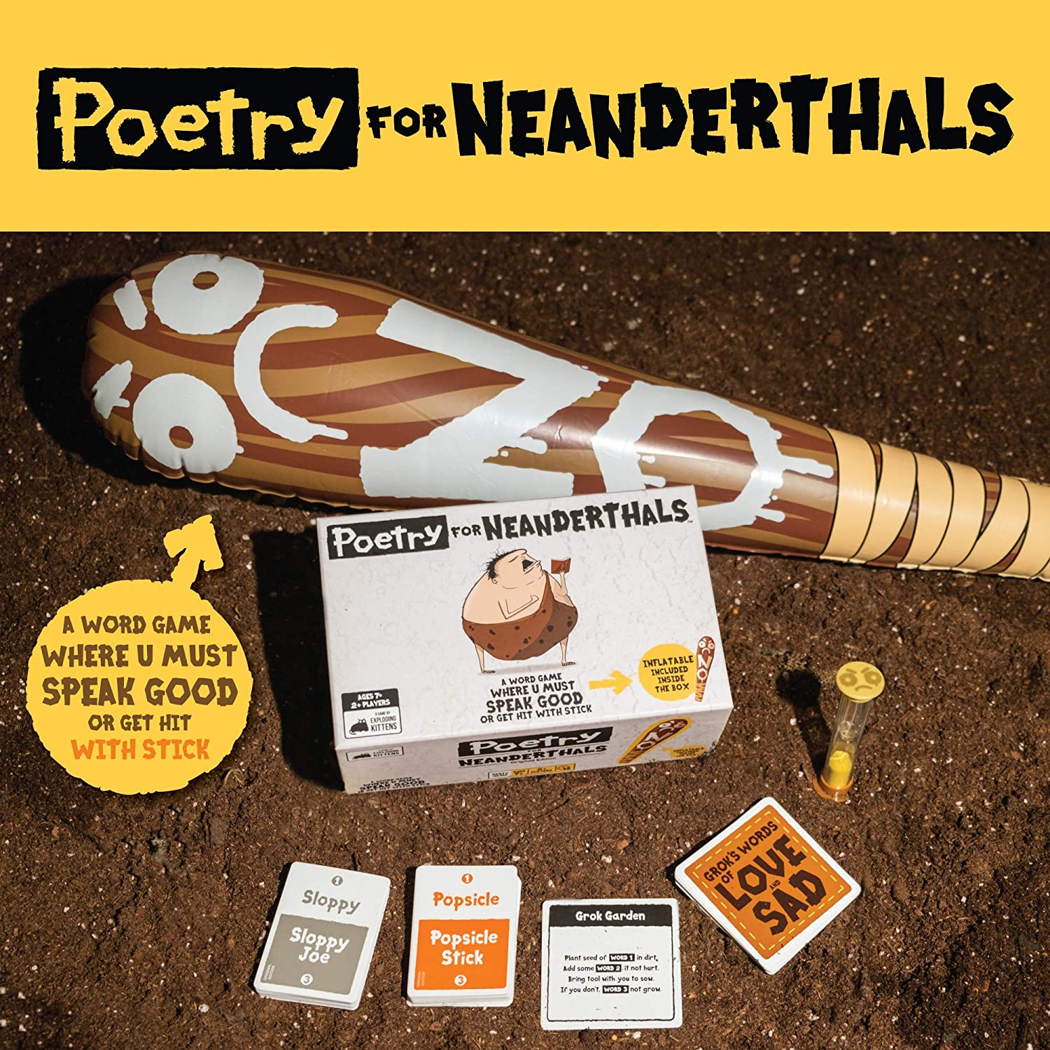 Poetry for Neanderthals by Exploding Kittens Card Games for Adults Teens /& Kids Original Edition