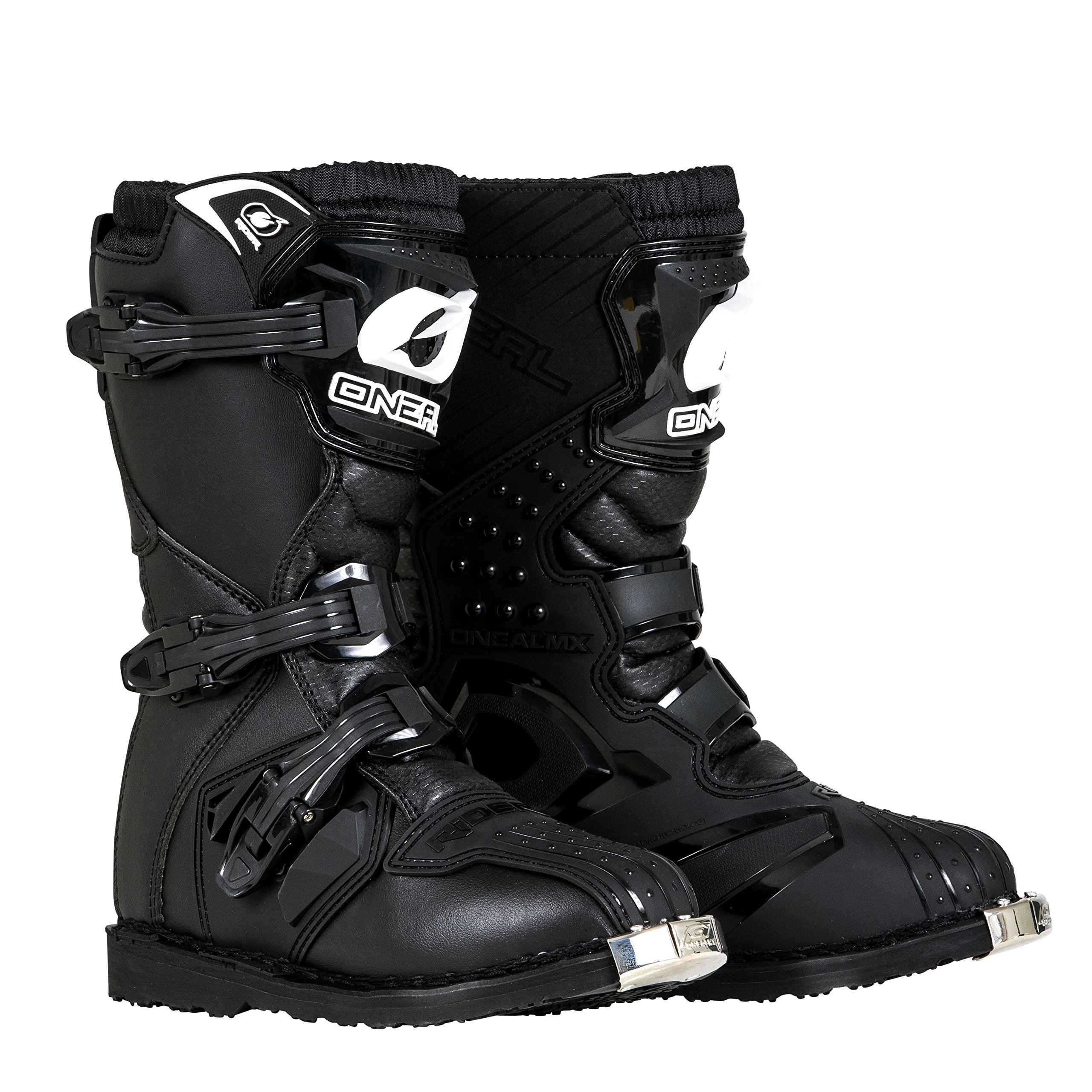 O'Neal Boys New Logo Rider Boot (Black, Size 2) by O'Neal