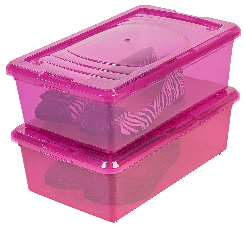 Amazon.com IRIS 6 Quart Modular Storage Box 10 Pack Pink Home u0026 Kitchen  sc 1 st  Amazon.com & Amazon.com: IRIS 6 Quart Modular Storage Box 10 Pack Pink: Home ...