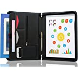 STYLIO Zippered Padfolio Portfolio Binder, Interview U0026 Resume Document  Organizer, Ipad/ 10.1  Resume Portfolio Holder