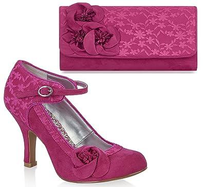 120ee7b3bdd84 Ruby Shoo Women's Anna Lace Mary Jane Pumps & Milan Bag
