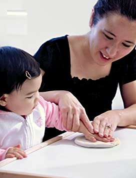 Tiny ideas 96152 Babyprints Keepsake Kit empreinte main ou pieds /À suspendre P/âte de moulage rose