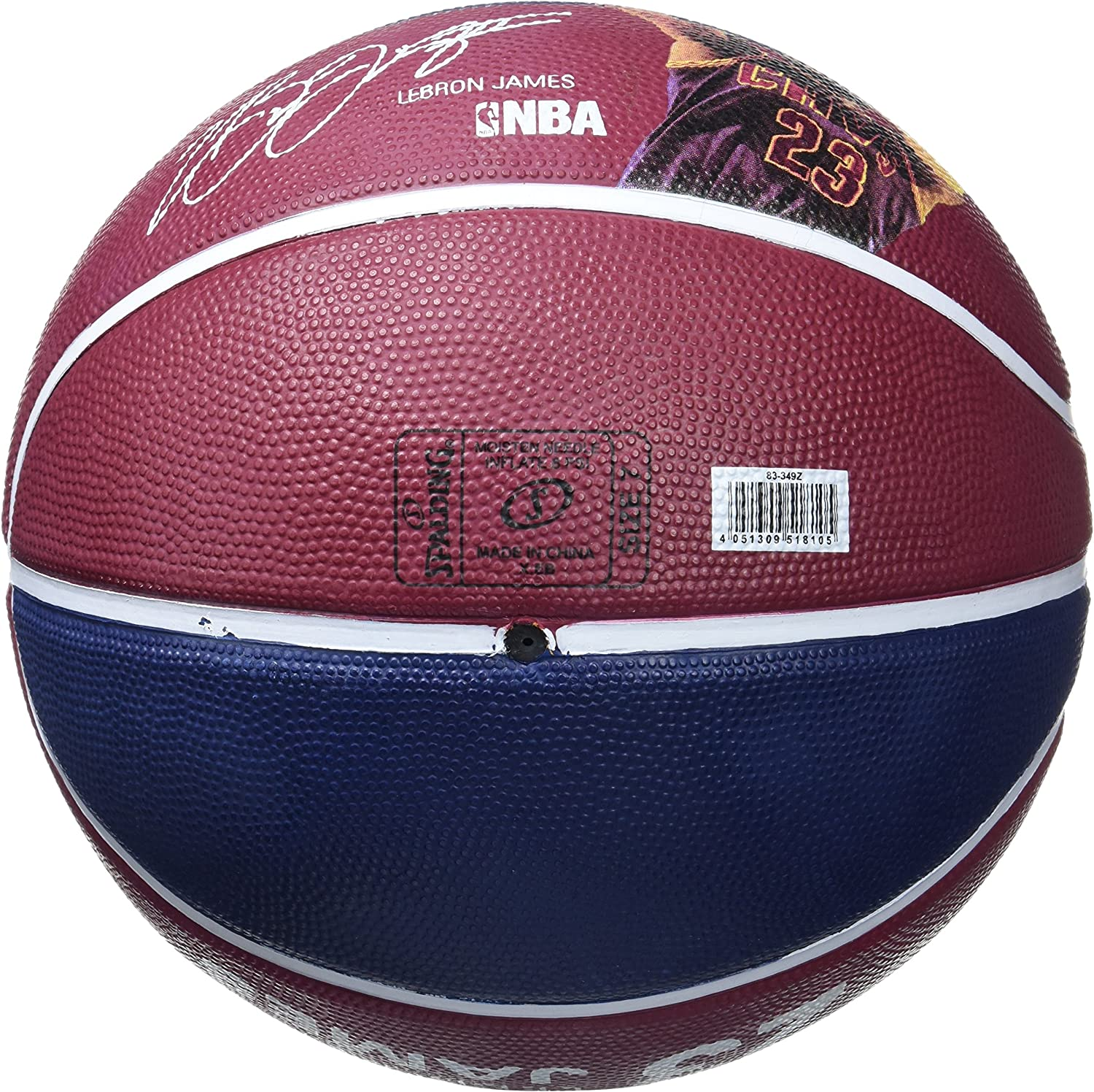 Spalding NBA Player Lebron James Sz.7 83-349Z Balón de Baloncesto ...