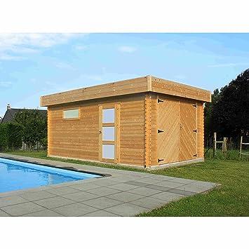 Garage modern holz  Solid Superia Garage Modern Holz 538 x 358 x 256 cm s8993: Amazon.de ...