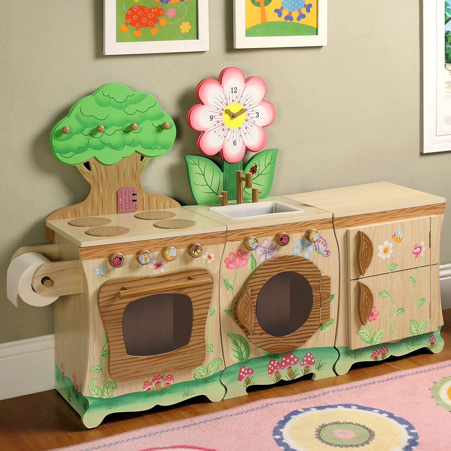 Amazon.com: Teamson Kids - Enchanted Forest Wooden Play Kitchen ...