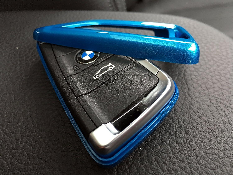 Carcasa protectora de pl/ástico ABS para llave de BMW azul, carcasa brillante para llave de BMW