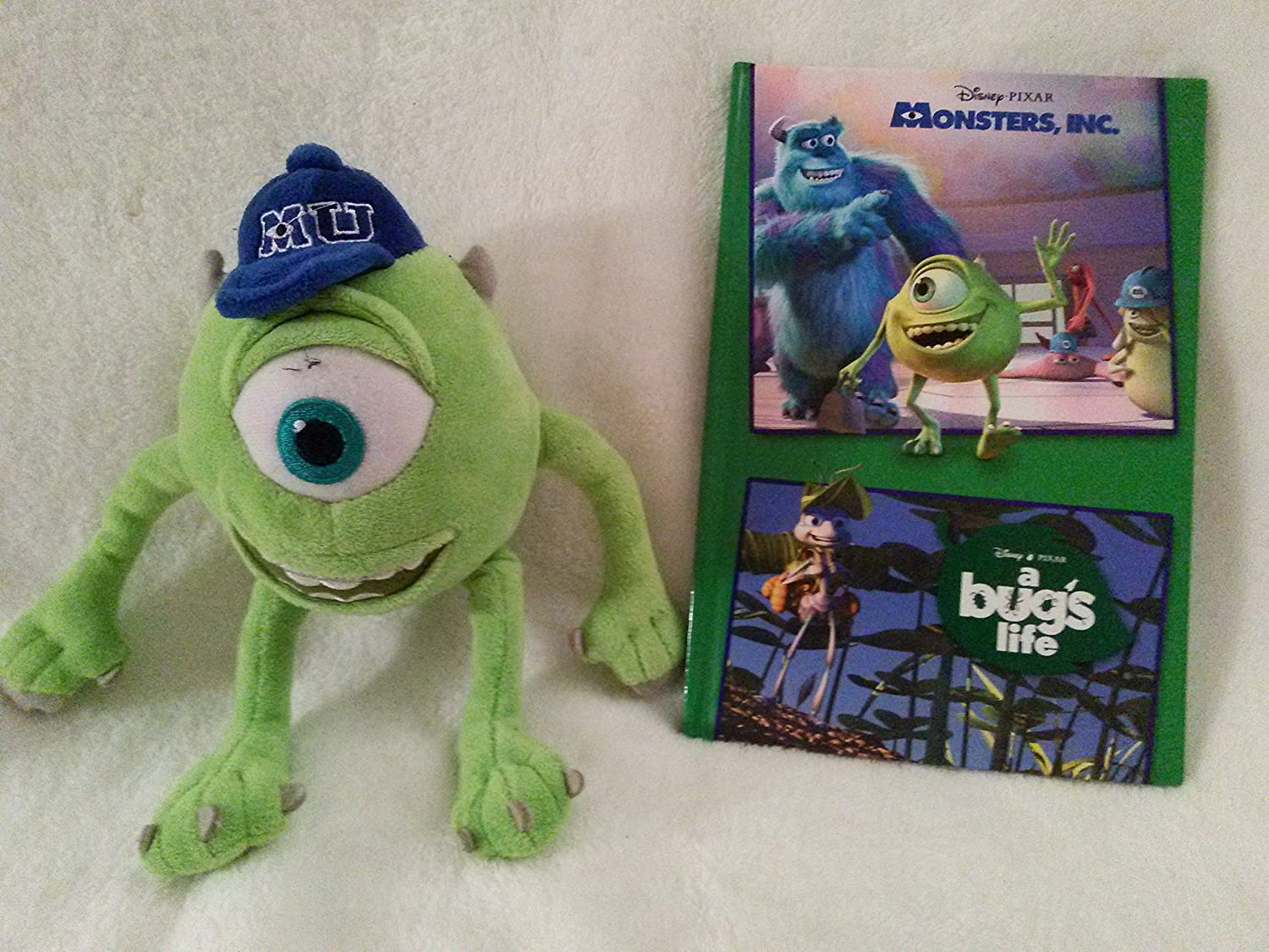 34f5afc2b70 Amazon.com  Monsters Inc University Set  Mike Wazowski 8.5   Inches By  Disney Pixar and Disney Pixar Monsters s Inc and A Bug s Life 2 Stories in  1 Book  ...
