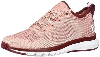 fe56bf8790e0 Reebok Women s Print Smooth 2.0 Ultk Running Shoe Chalk Pink Urban Maroon White  6.5