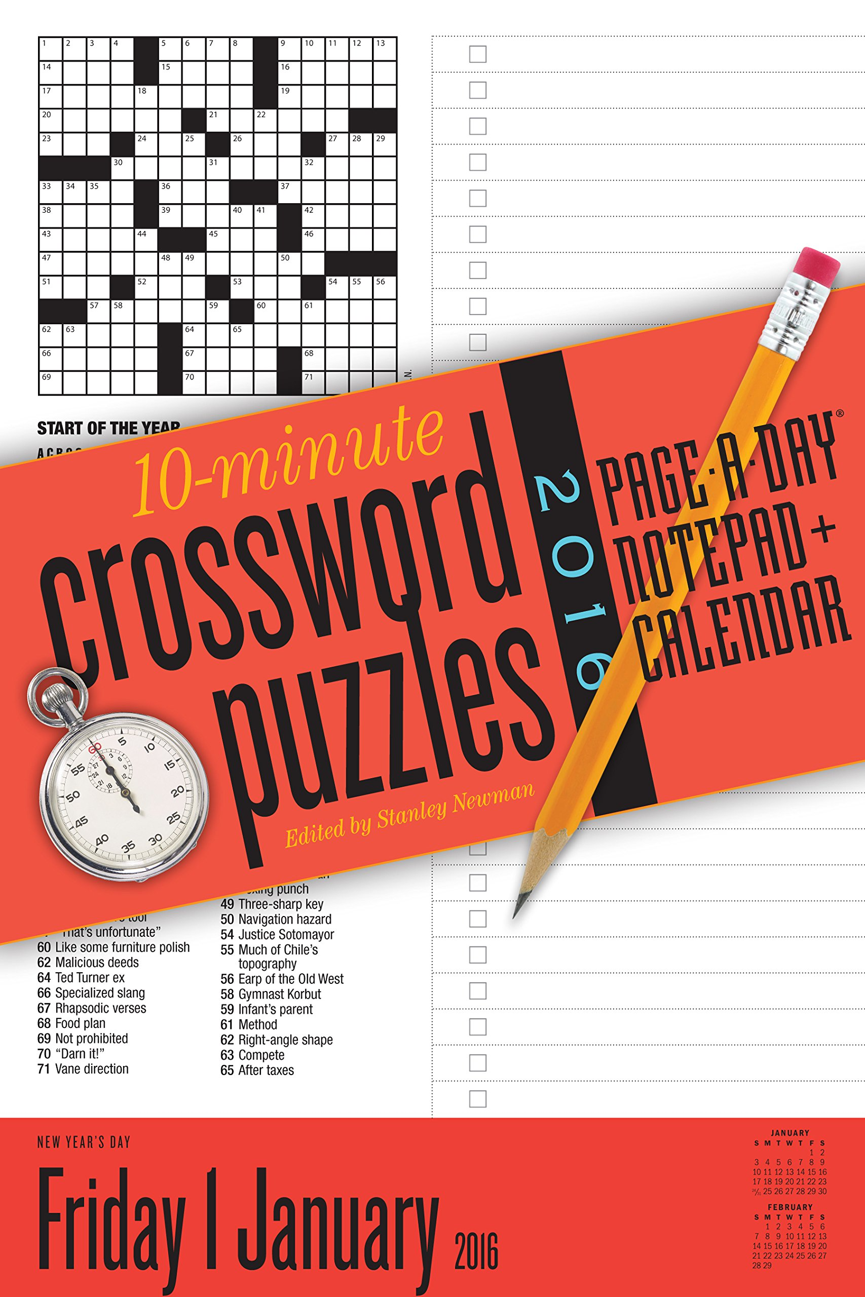 image regarding Page a Day Calendar named 10-Second Crossword Puzzles Site-A-Working day Notepad + Calendar