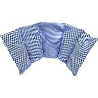 """""""Aktion: NATUR PUR"""" Kirschkernkissen von salosan: 5 Kammern Kissen, zur Wärme- / Kälte - / Entspannungs- / Wellness- und Massagetherapie bestens geeignet, in liebevoller Handarbeit aus natürlichen Rohstoffen hergestellt, Größe: 50 x 20 cm (blau klein)"""