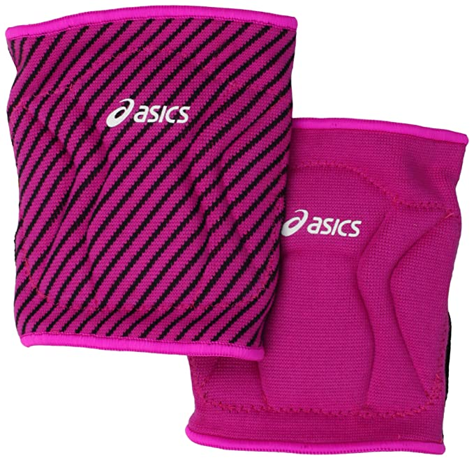 ASICS Replay Reversible Knee Pad, One Size Fits All, Pink Glow/Black