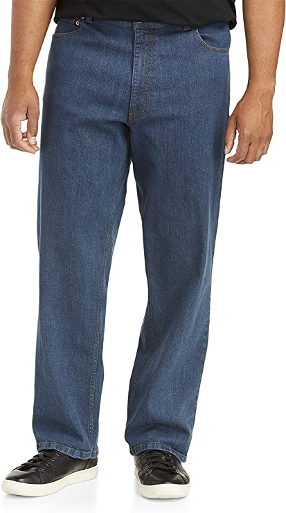 50W X 30L Harbor Bay by DXL Big and Tall Continuous Comfort Stretch Jeans Dark Wash