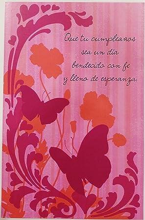 Feliz Cumpleanos Religioso QuotUn Dia Bendecidoquot Religious Happy Birthday Greeting Card