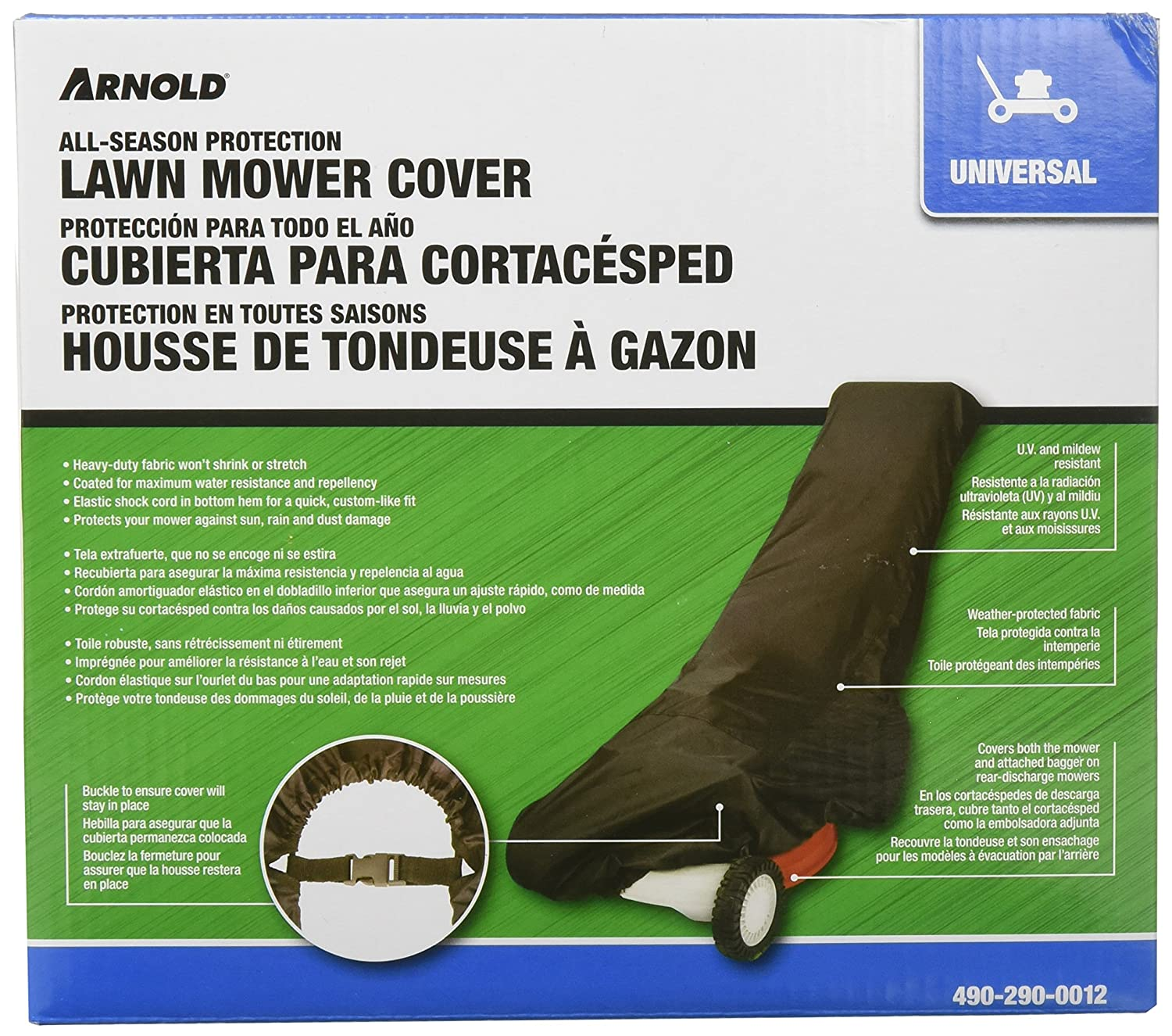 Arnold 70 1/2-Inch x 26 3/4-Inch x 18 1/8-Inch Universal Lawn Mower Cover Arnold Corporation 490-290-0012