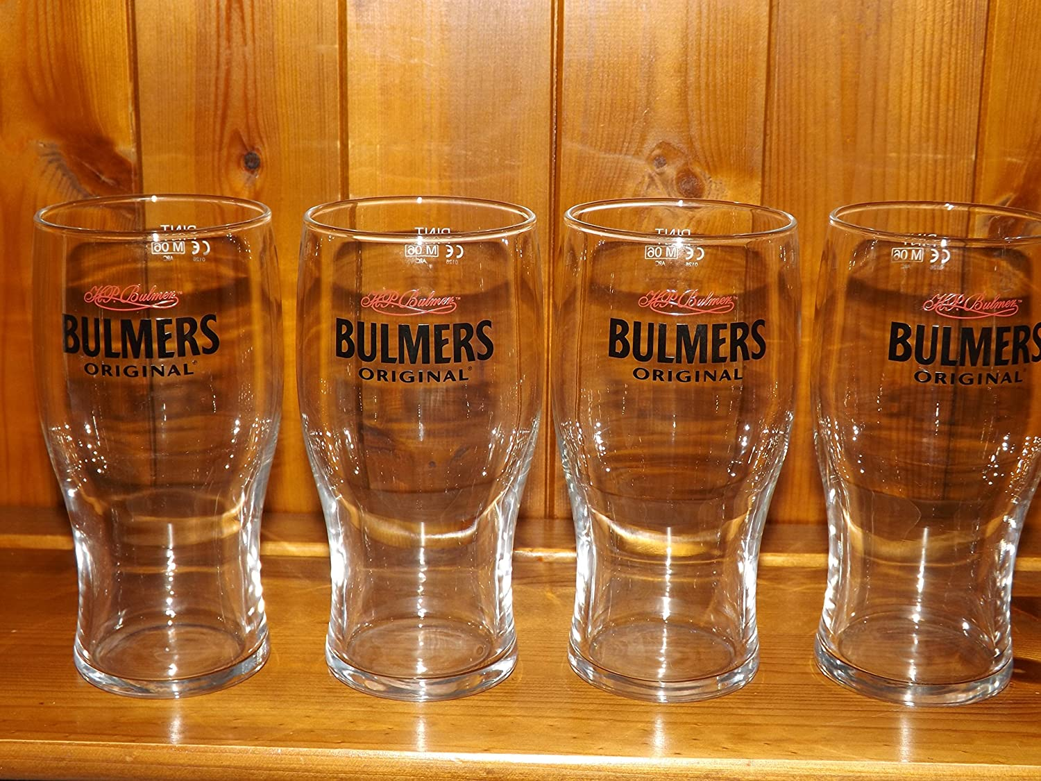 BULMERS ORIGINAL CIDER PINT GLASS x 4