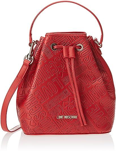 Borsa Saffiano Pu Nero-logo Nero, Womens Bag, Black, 23x26x24 cm (B x H T) Love Moschino