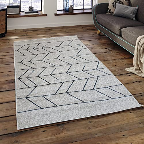 Area Rugs Pyramid Home Decor, Ivory Blue Design for Bed room and Living Room Light Grey, Red, Area Rugs for Living room, Area Rugs for Bedroom, 5×7 area rugs clearance