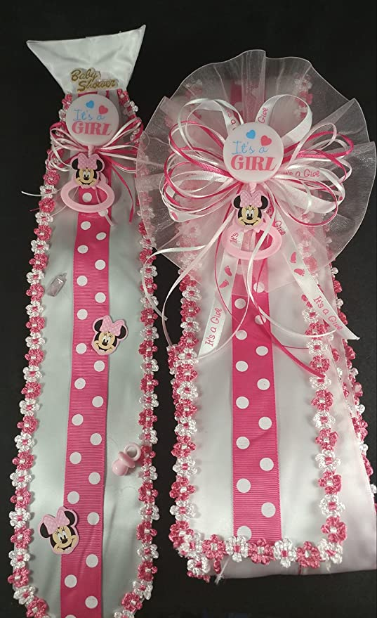 Amazon Pink Its A Girl Baby Minnie Mouse Baby Shower Sash Tie