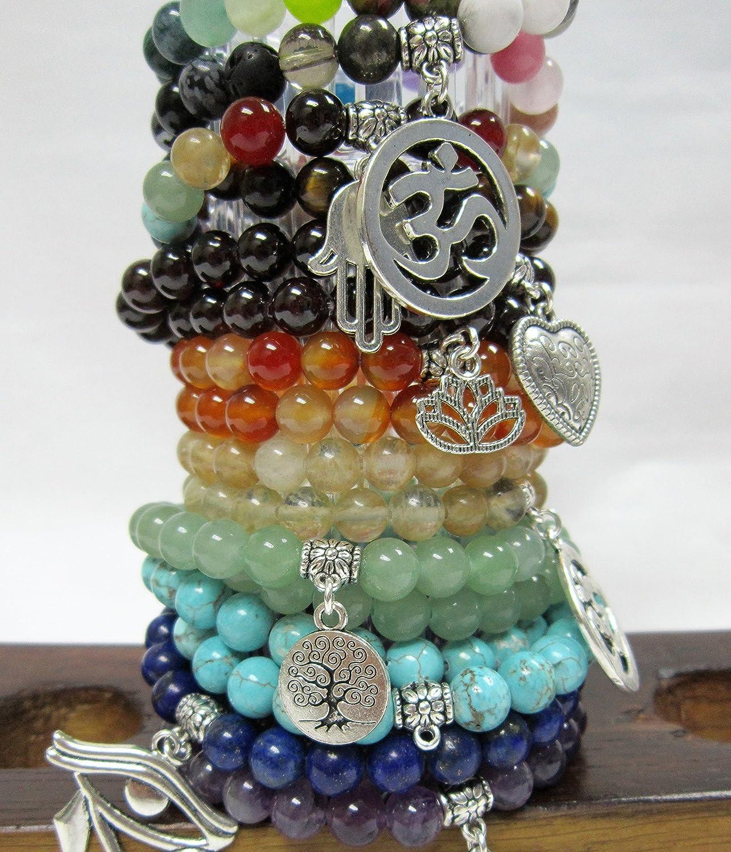 Ruby In Zoisite Double Wrap Mala 45 Bead Agesta Healing Code Mala Ruby In Zoisite Wrap Bracelet Ruby In Zoisite Chakra Yoga Mala Bracelet