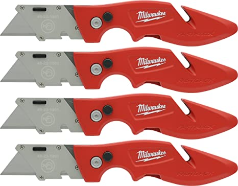 Amazon.com: Milwaukee 48-22-1901 - Juego de 4 cuchillos con ...