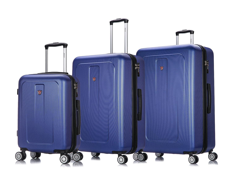 dd47b5a49d64 DUKAP Luggage Crypto Lightweight Hardside 3 piece set 20''/28''/32'' Blue
