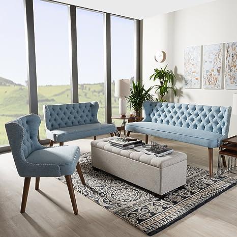 Amazon.com: Baxton Studio 3-Pc Scarlett Living Room Set in ...
