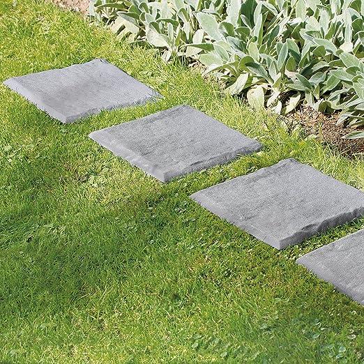 UPP camino de baldosas I placas, baldosas para patio y jardín, apariencia de piedra natural (4 unidades): Amazon.es: Jardín