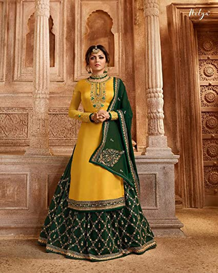 Special Party/Ethnic wear Georgette Ghagra Style Salwar for Womens