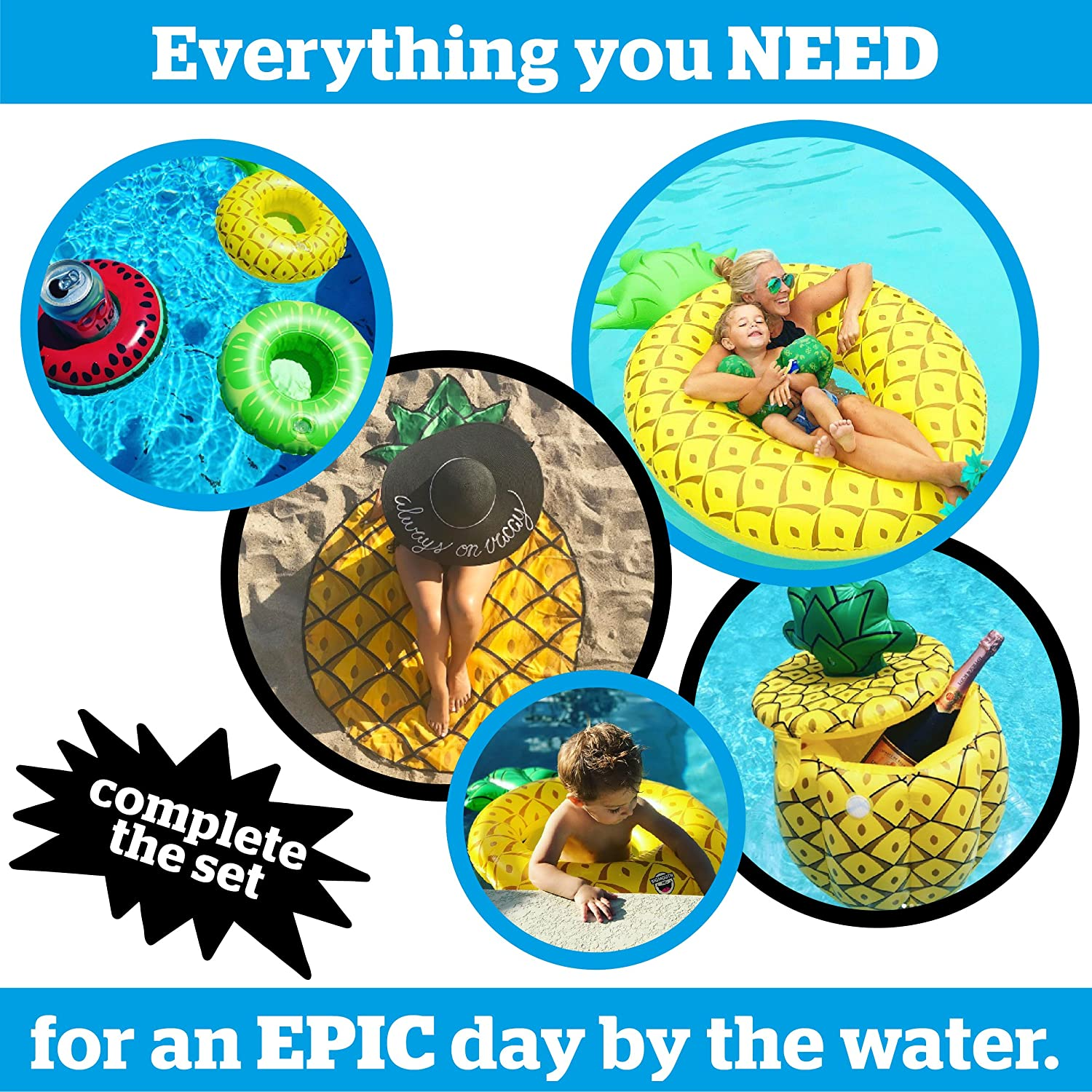Multi Colour Big Mouth Toys BMIC-PA Big Mouth Ice Cooler Pineapple
