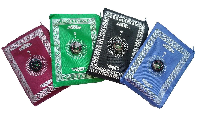 Actopus 4PCS Portable Waterproof Muslim Prayer Mat Light Prayer Rug with Compass Muslim Prayer Rug Qibla Finder Booklet Actopus-MF224