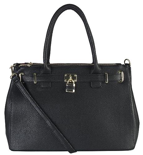 Candado de piel sintética diophy estructurado maletín bolso ...