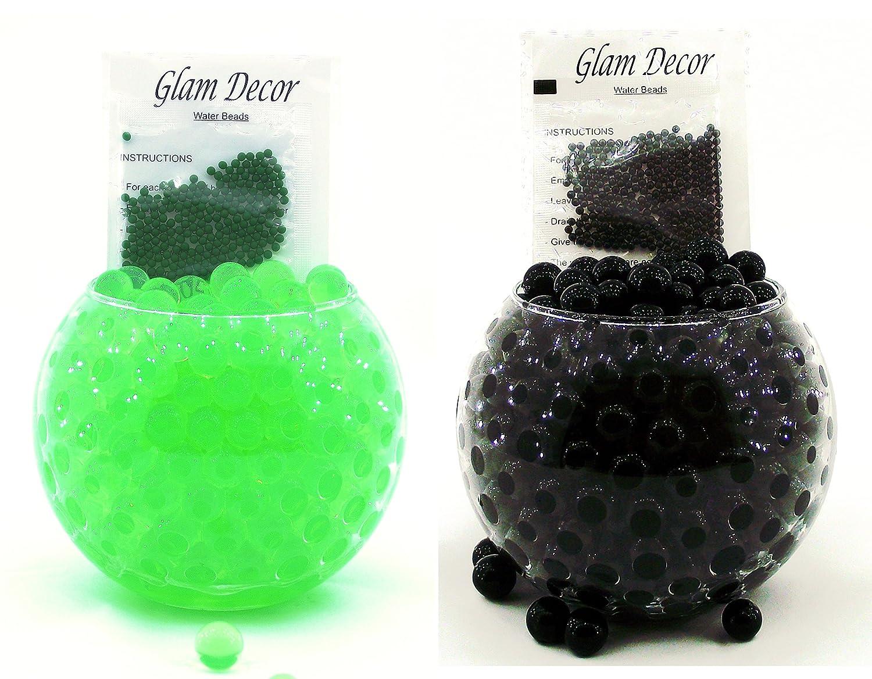 Black-Lime Green 2 Packs Glam Decor Water Beads® Soil Bio Gel Ball Beads Wedding Vase Centerpiece UK