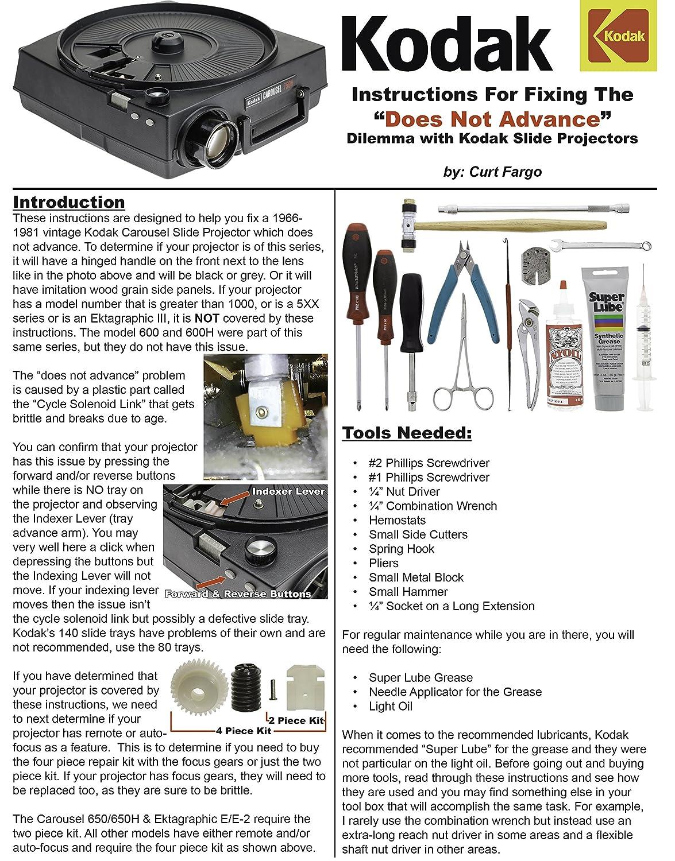 repair kit for kodak carousel slide projector w focus motor tools rh amazon com kodak carousel 850h slide projector manual kodak carousel 850h slide projector manual
