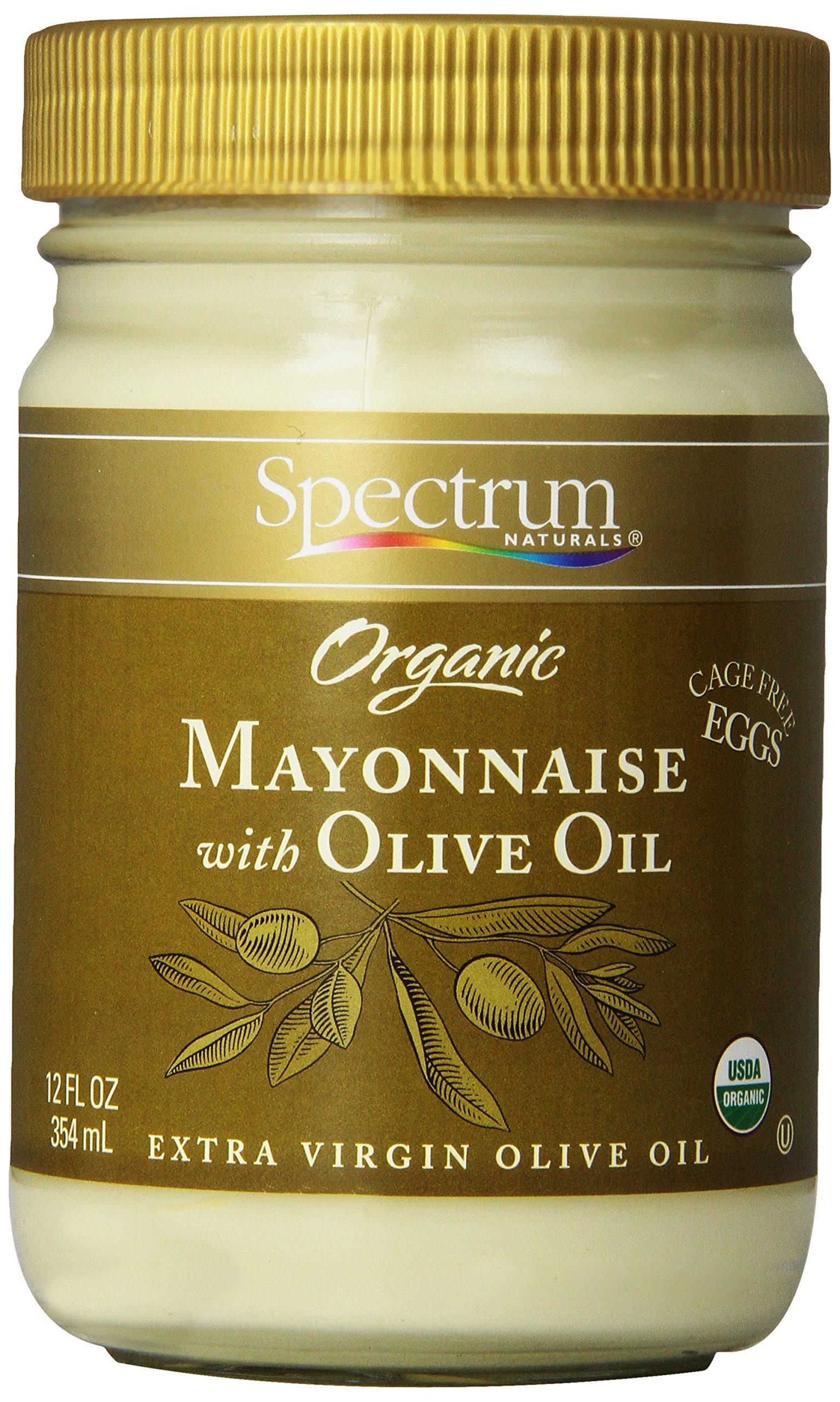 Spectrum Mayonnaise, Olive Oil, 12 oz