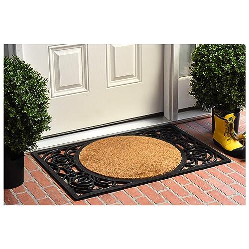 Calloway Mills 180031830S Armada Circle Monogram Doormat, 18 x 30 Letter S