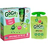 GoGo squeeZ Applesauce, Apple Peach, 48 Pouches (12 Boxes with 4 Pouches Each)